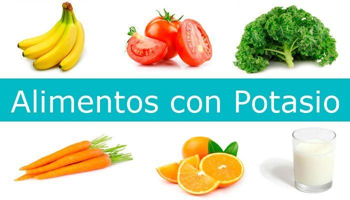 alimentos con potasio