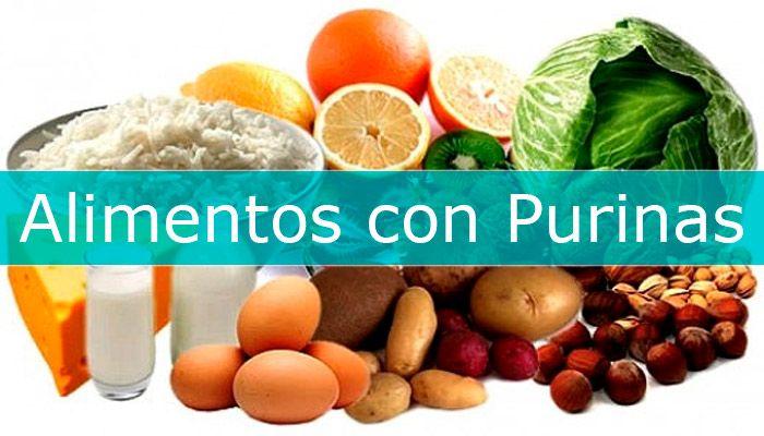 alimentos ricos en purinas